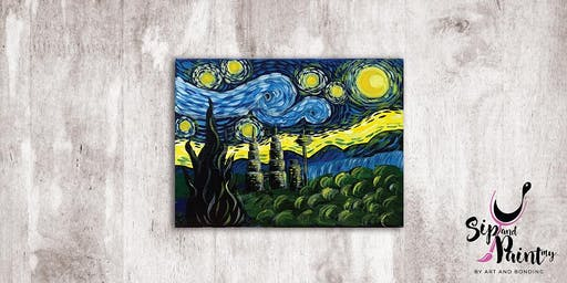 Sip & Paint MY @ SOULed OUT Ampang : Van Gogh's Starry Night KLCC