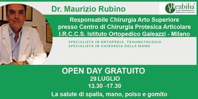 """La salute di spalla, mano, polso e gomito: l'Open Day gratuito al CentroFisioterapico Multispecialistico """"Reabilia"""