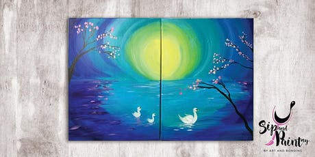 Sip & Paint MY @ EGG Sunway: Mommy & Baby Swan tickets