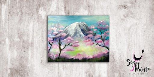Sip & Paint MY @ EGG Sunway: Mount Fuji