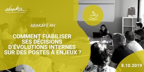 Abakafé RH : Fiabiliser les décisions d'évolutions internes billets