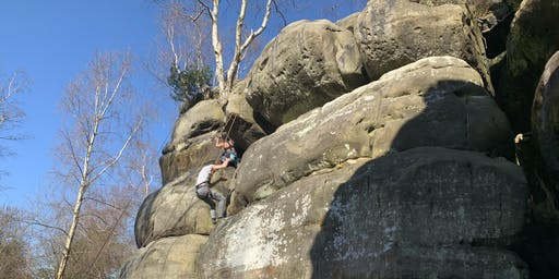 Climb the Sandstone crags of Harrisons Rocks