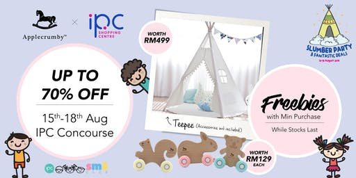APPLECRUMBY JV IPC Baby Fair (Slumber Party & Fantastic Deals)