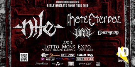 Nile / Hate Eternal / Vitriol / Omophagia at Lotto Mons Expo billets
