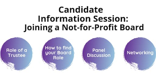 Candidate Information Session: Joining a Not-For-Profit Board