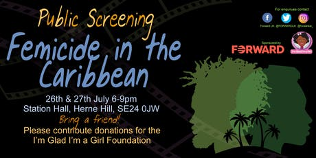 Femicide in the Caribbean  tickets