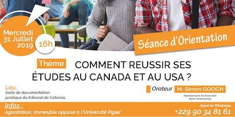 Etudes aux USA et au CANADA (Journée d'Orientation et d'Information) billets