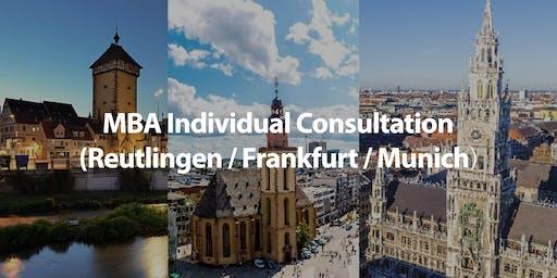 CUHK MBA Individual Consultation in Frankfurt