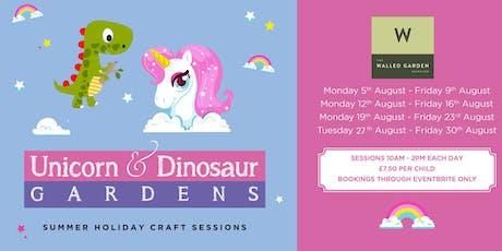 Create your own Unicorn or Dinosaur Garden tickets
