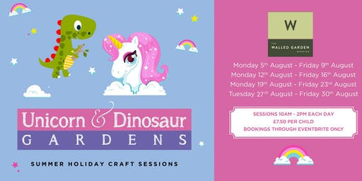 Create your own Unicorn or Dinosaur Garden