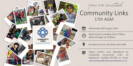 Community Links 17th AGM tickets