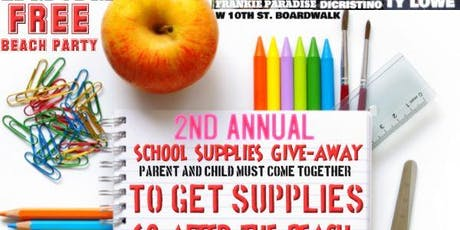 2 Annual School Supply Giveaway Frankie Paradise tickets