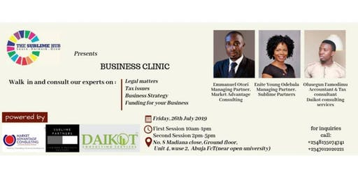 THE SUBLIME HUB BUSINESS CLINIC
