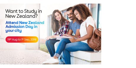 Study in New Zealand- Free New Zealand Education Fair in Vadodara -  Aug-Sep 2019 tickets