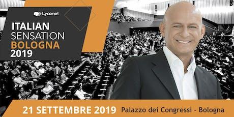 ITALIAN SENSATION BY LYCONET ITALIA - 21 SETTEMBRE 2019 biglietti