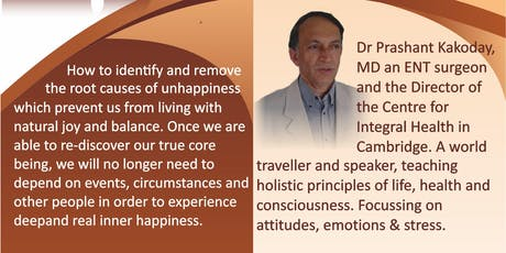 The Healing Power of Happiness - guest speaker Dr Prashant tickets