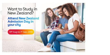Study in New Zealand- Free New Zealand Education Fair in Delhi - Aug-Sep 2019 tickets