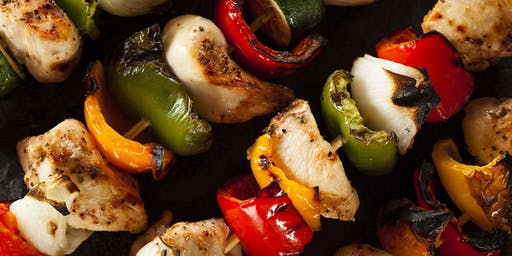 Chicken, Pork & Veggie Kabob-a-Rama Cooking Class - July 25 Limited seating