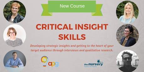 APG Training | Critical Insight Skills tickets