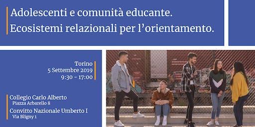 Adolescenti e comunità educante.  Ecosistemi relazionali per l'orientamento