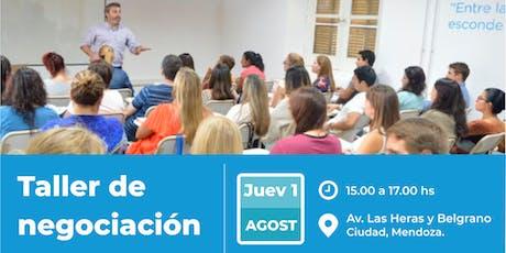 AAE en Club de Emprendedores - Taller de Negociación - Mendoza. entradas