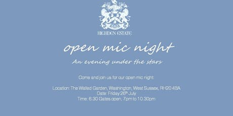Walled Garden Open Mic Night tickets