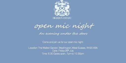 Walled Garden Open Mic Night