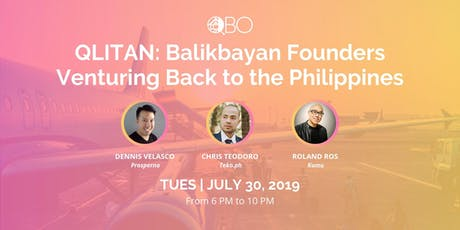 QLITAN: Balikbayan Founders Venturing Back to the PH tickets