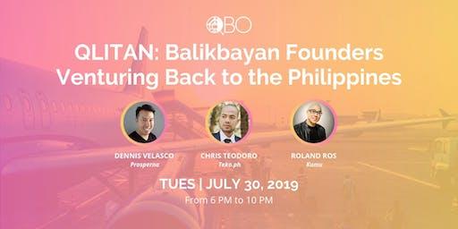 QLITAN: Balikbayan Founders Venturing Back to the PH