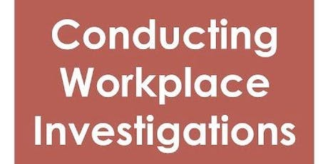 Conducting Workplace Investigations - Aberdare tickets