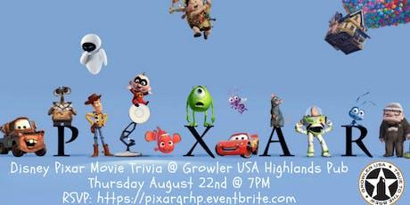 Disney Pixar Movie Trivia at Growler USA Highlands Pub tickets