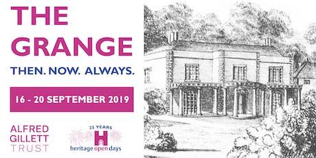 The Grange: Then. Now. Always tickets