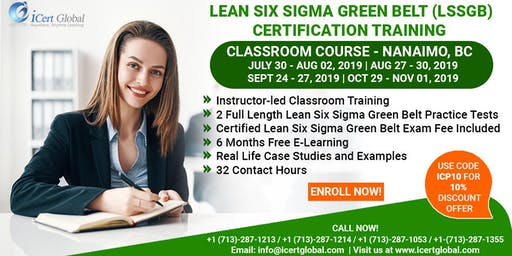 Lean SixSigma Green Belt Training and Certification in Nanaimo, BC, Canada.