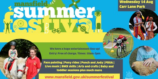Mansfield Summer Festival at Carr Lane Park, Warsop
