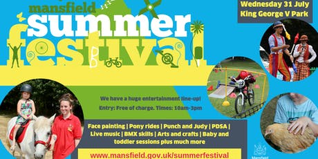 Mansfield Summer Festival at King George V Park tickets