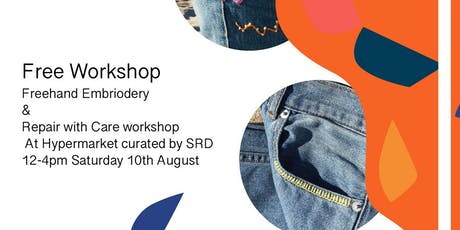 Free hand Embroidery & Repair with Care  by  Design X Stitch tickets