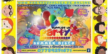 Party Supplies Summer Disco tickets