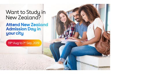 Study in New Zealand- Free New Zealand Education Fair in Chennai - ( Aug-Sep 2019)