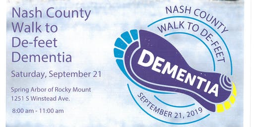 Nash County Walk To De-Feet Dementia