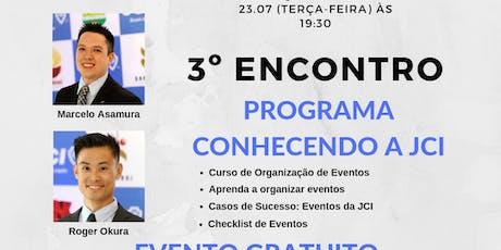 3o Encontro Programa Conhecendo a JCI ingressos