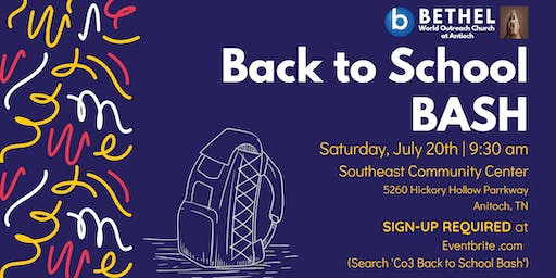 Co3 Back to School BASH