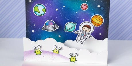 Space Chase Craft pop-up cards - Higham Hill Library tickets
