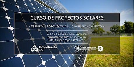 Curso de Proyectos Solares Bariloche// Septiembre  2019 entradas