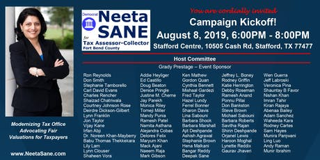 Neeta Sane for Tax Assessor-Collector Campaign Kickoff tickets