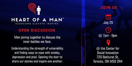 Heart Of A Man (HOAM) - Men's open discussion group. tickets