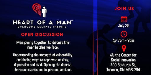 Heart Of A Man (HOAM) - Men's open discussion group.