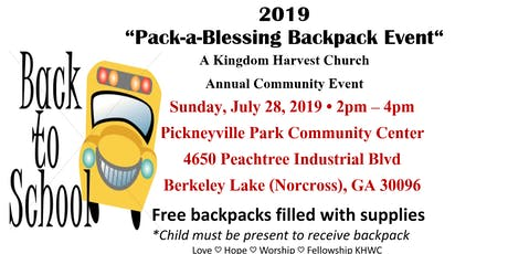 Kingdom Harvest Worship Center 2019 Backpack Event tickets