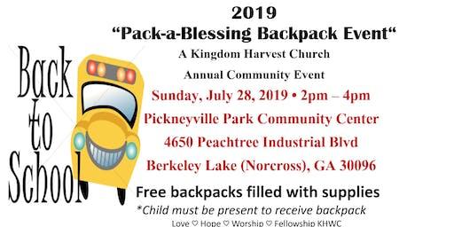 Kingdom Harvest Worship Center 2019 Backpack Event