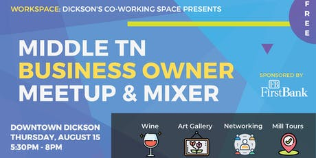 Middle TN Business Owner Meetup & Mixer tickets
