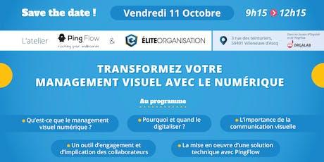 Atelier PingFlow / Elite Organisation : TRANSFORMEZ VOTRE MANAGEMENT VISUEL billets